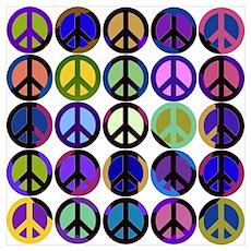Mod Vintage Peace Poster