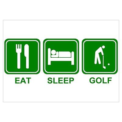 EAT SLEEP GOLF (grn) Poster