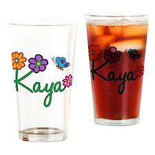 Kaya Flowers Drinking Glass