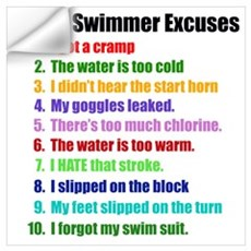 Swimming Excuses Wall Decal