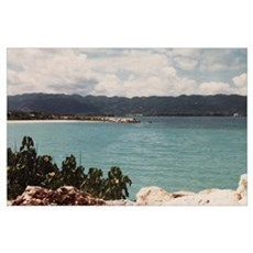 Public Beach Montego Bay Jamaica Poster