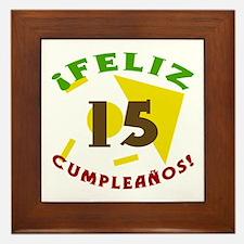Feliz Cumpleaños (15) Framed Tile