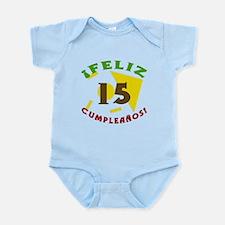 Feliz Cumpleaños (15) Infant Bodysuit