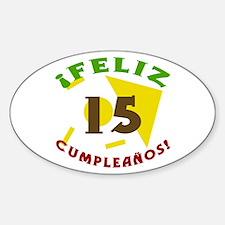 Feliz Cumpleaños (15) Decal
