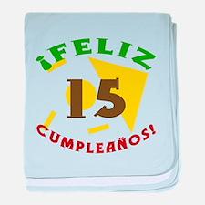 Feliz Cumpleaños (15) baby blanket