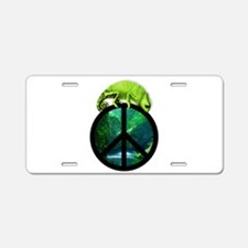Cool Peace frog Aluminum License Plate