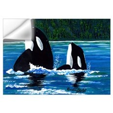 Two Orcas Wall Decal