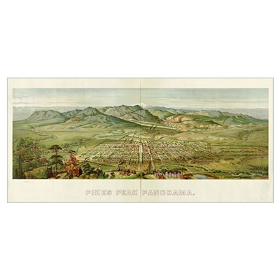 Pikes Peak, CO, 1890 Poster