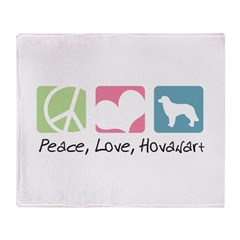 Peace, Love, Hovawart Throw Blanket