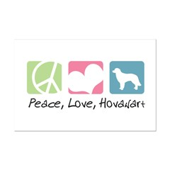 Peace, Love, Hovawart Posters