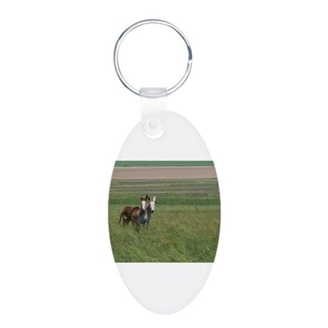 In the field Aluminum Oval Keychain