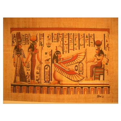 MAAT and AUSET (ISIS) Poster