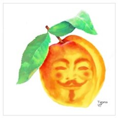 V Peach Poster