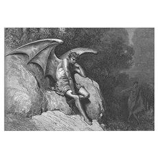 Satan Thinking Large Art Print for your wall Canvas Art