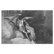 Satan Thinking Large Art Print for your wall Poster