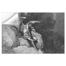 Satan Thinking Large Art Print for your wall Wall Decal