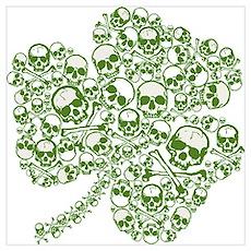 Shamrock Skull St Patricks Day Poster