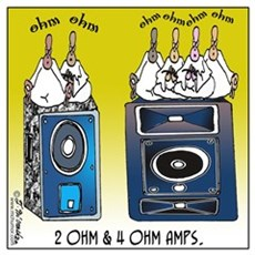 2 Ohm and 4 Ohm Amps Poster