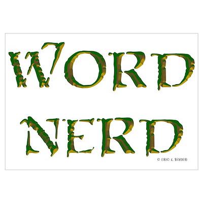 Word Nerd (medieval) Poster