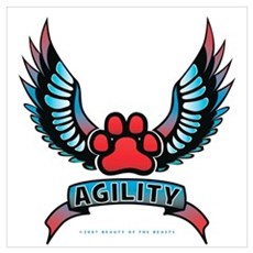 Agility Paw Tattoo Poster