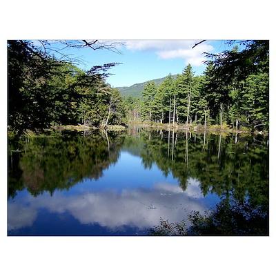 New England Lake Reflection Poster
