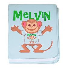 Little Monkey Melvin baby blanket