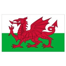 Welsh Flag Poster