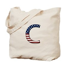 C Stars and Stripes Tote Bag