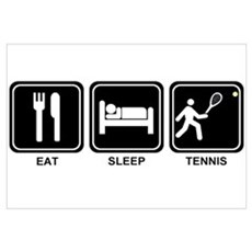 EAT SLEEP TENNIS Canvas Art