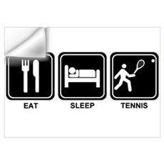 EAT SLEEP TENNIS Wall Decal