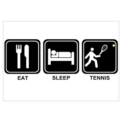 EAT SLEEP TENNIS Framed Print