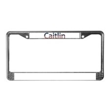 Caitlin Stars and Stripes License Plate Frame