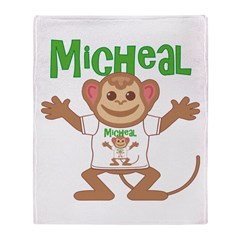 Little Monkey Micheal Throw Blanket