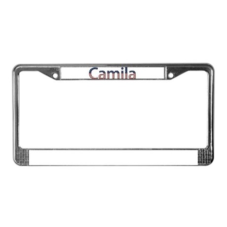 Camila Stars and Stripes License Plate Frame