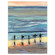 Surfers by RD Riccoboni Framed Print