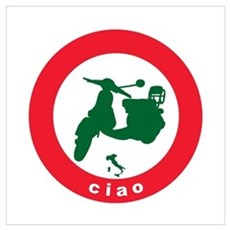 ciao Scooter Poster