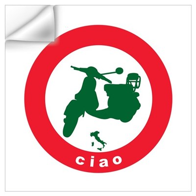 ciao Scooter Wall Decal