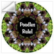 Poodles Rule! Wall Decal