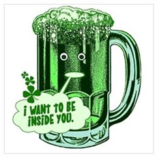Hilarious St Patricks Day Canvas Art