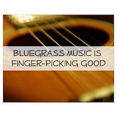 Bluegrass Fingerpicking Poster