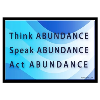 Think Abundance Canvas Art