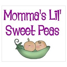 Momma's Lil' Sweet Peas Framed Print
