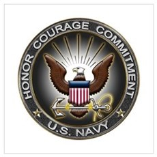 USN Eagle Honor Courage Commi Poster