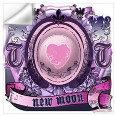 New Moon Antique Etching Wall Decal