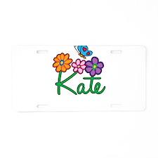 Kate Flowers Aluminum License Plate