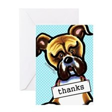 Funny Boxer Greeting Card