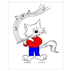 Catoons™ Flute Cat Canvas Art