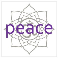 peace Om Lotus Blossom Poster