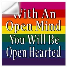 Open Mind Open Hearted Wall Decal