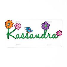 Kassandra Flowers Aluminum License Plate